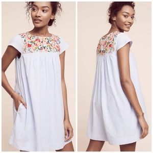 Anthro Maeve Chrissy Beaded Embroidered Dress B15